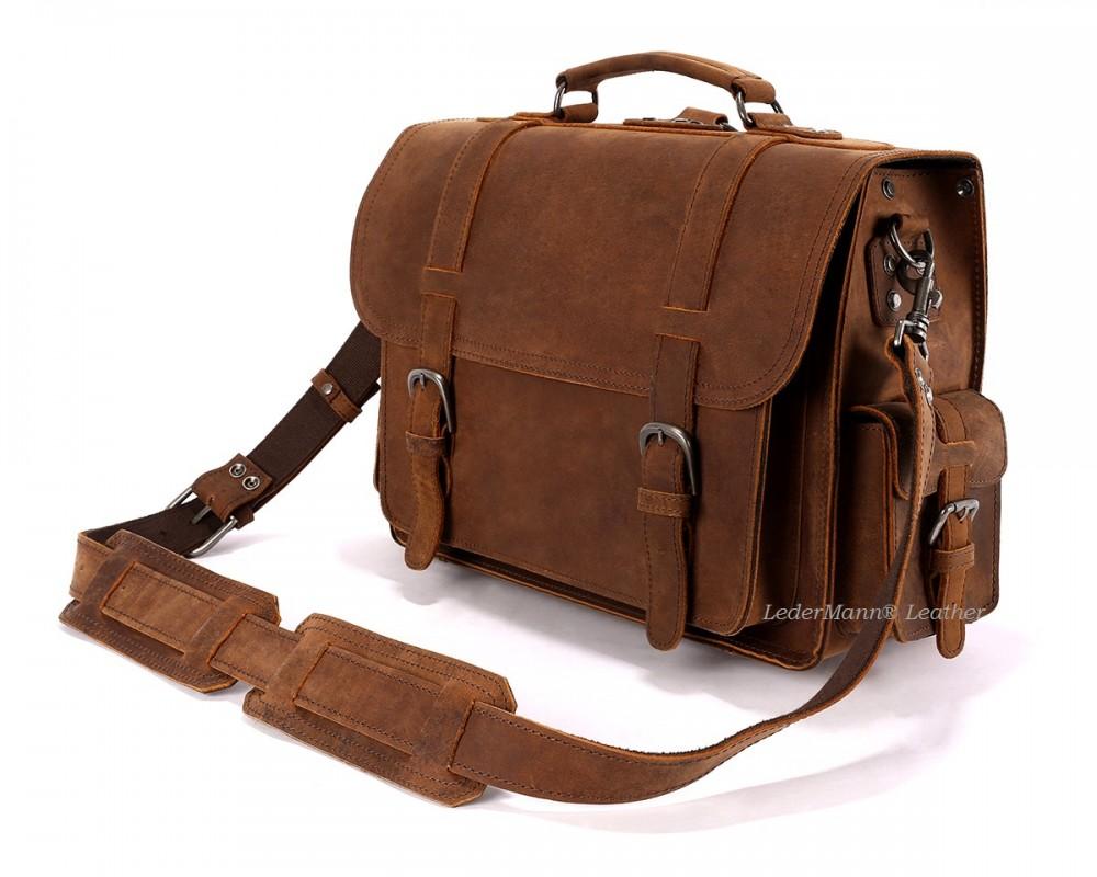 Side Pocket Briefcase - Buy Online | LederMann