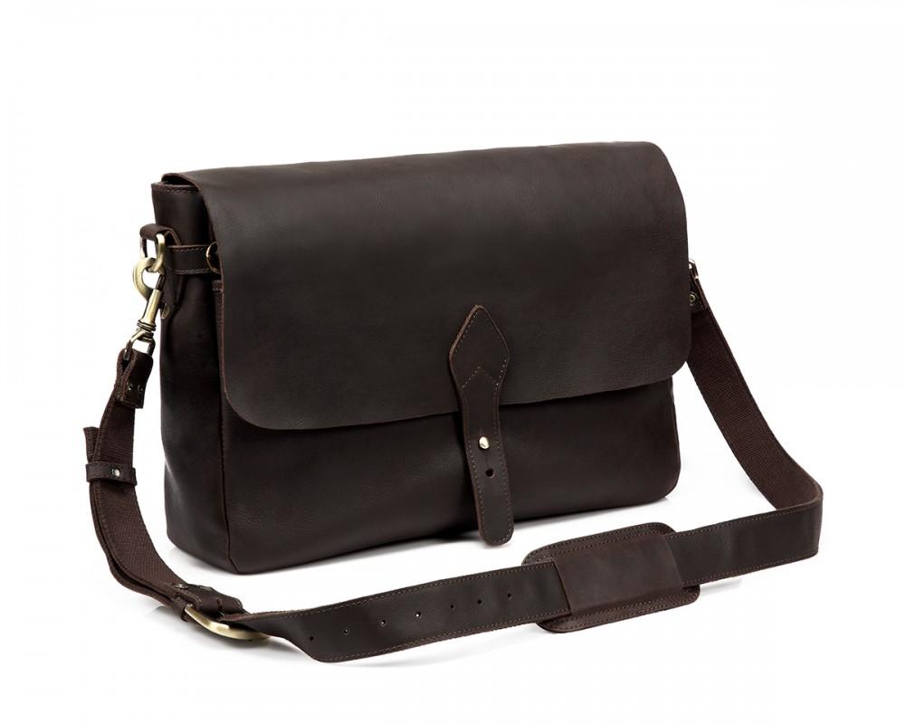 TheCompanion Messenger Bag - Dark Brown - Buy Online | LederMann