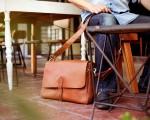 TheCompanion Messenger Bag - Light Brown