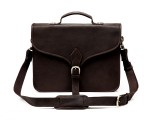 TheCompanion Thin Briefcase - Dark Brown