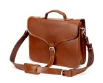 TheCompanion Thin Briefcase - Light Brown