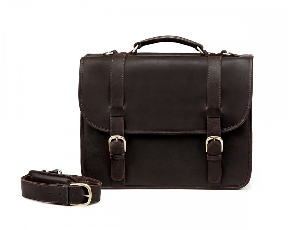TheCompanion Briefcase - Dark Brown