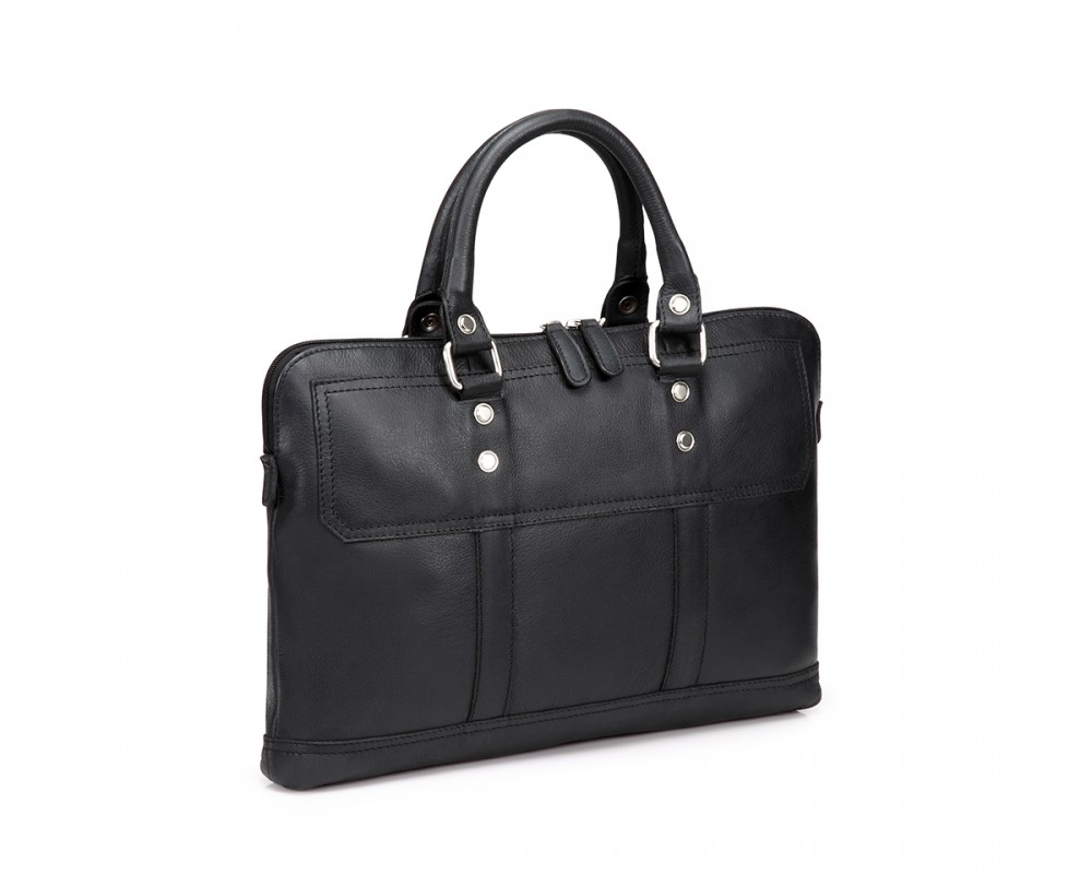 TheCultured Slim Laptop Bag - Black