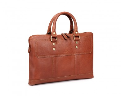 TheCultured Slim Laptop Bag - Tan