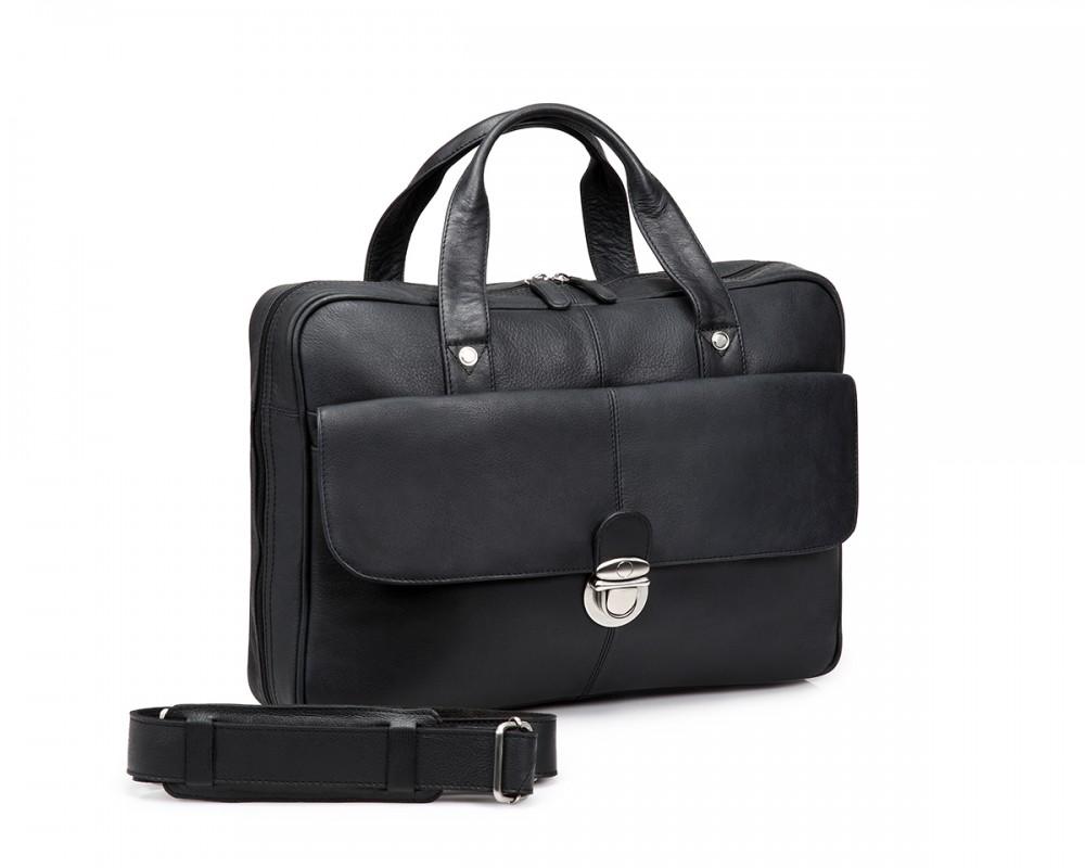 TheCultured Press Lock Laptop Bag - Black