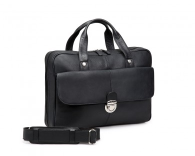 TheCultured Press Lock Laptop Bag - Black