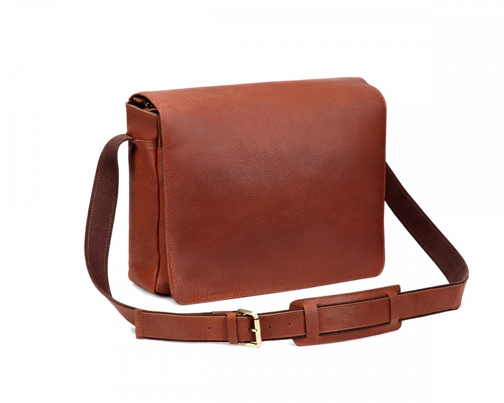 TheCultured Laptop Messenger Bag - Tan - Buy Online | LederMann