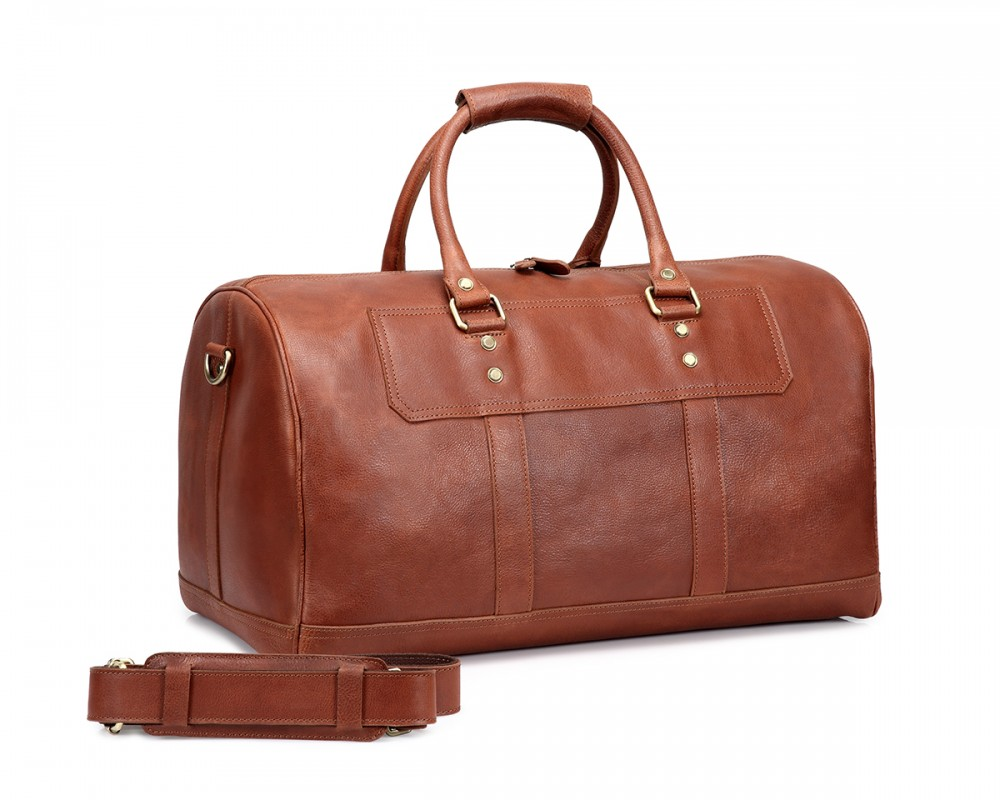 thecultured duffle bag tan - Mens Leather Duffle Bag