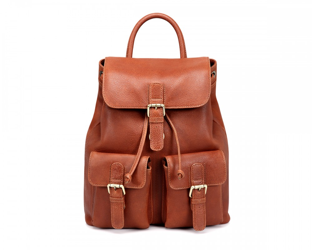 TheCultured Front Pocket Backpack - Tan