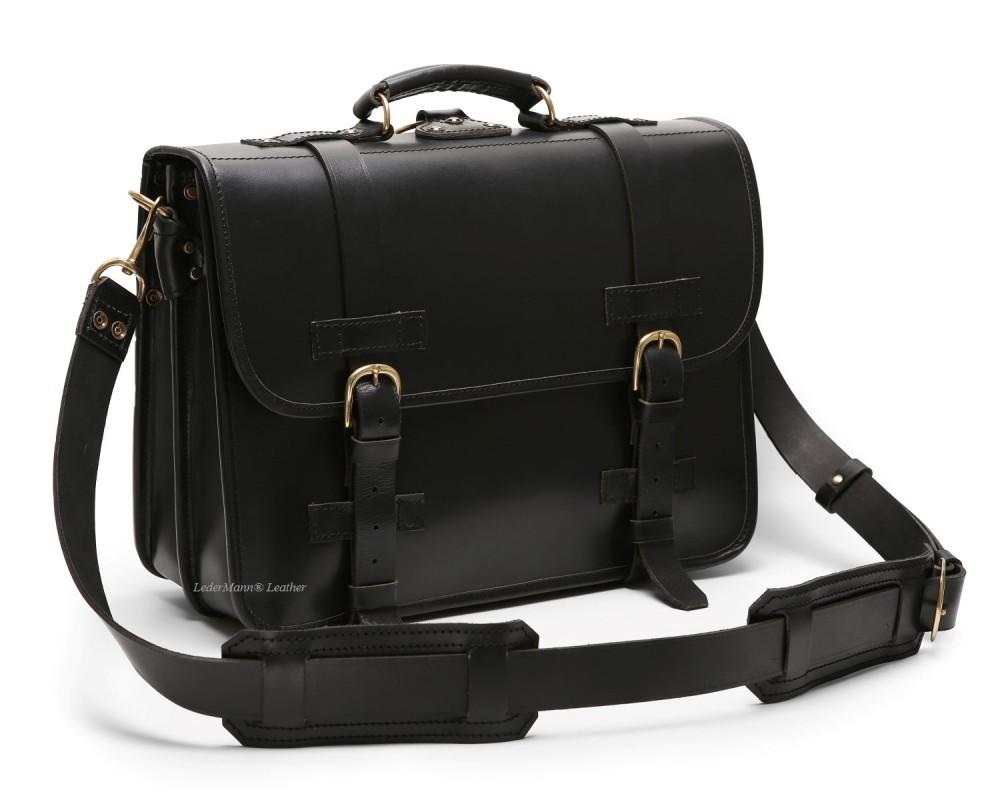 0b0f57525e32 Front Strap Briefcase - Classic Black