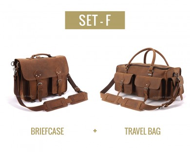 Set F - Briefcase and Travel Bag